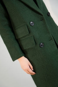 oversized wool jacket coat C1763