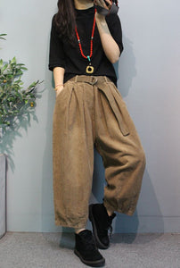 Casual loost fit corduroy pants A023