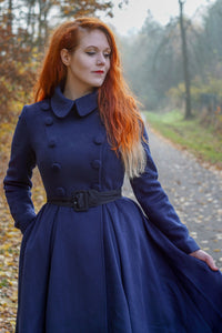 Double breasted wool midi coat C1799
