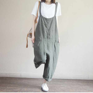 Casual Baggy Overalls Jumpsuit L001#