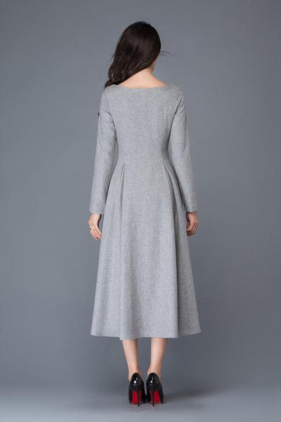 women wool dress