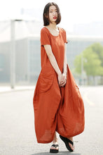 Load image into Gallery viewer, Asymmetrical linen dress