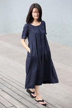 Load image into Gallery viewer, loose summer linen dress C270