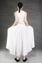 Load image into Gallery viewer, white maxi linen dress