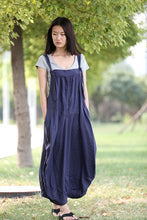 Load image into Gallery viewer, blue linen dress