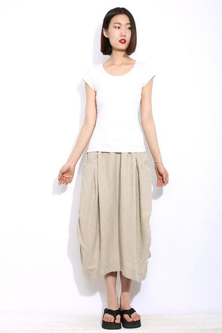 Casual linen skirt