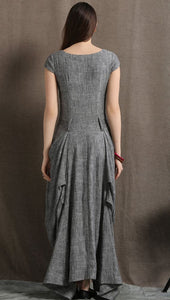 Linen Asymmetric Dress