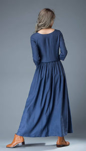 blue women dress
