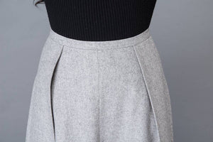 Skirt, midi skirt, vintage skirt, wrap skirt, wool skirt, wool skirt pleats, grey skirt, winter skirt, womens skirts, office skirt  C1020