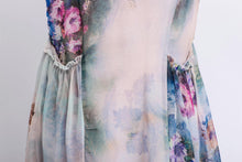 Load image into Gallery viewer, Floral Chiffon Dress - Elegant Summer Party Dress in Watercolor Flowers Print Sleeveless Long Maxi Women's Fashion C470