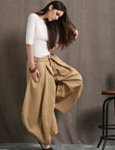 Load image into Gallery viewer, Brown pants, womens pants, summer trousers, casual pants, long pants, wide leg pants, fashion pants, loose trousers,  womens trousers C412
