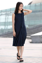 Load image into Gallery viewer, sleeveless linen tunic dress C263