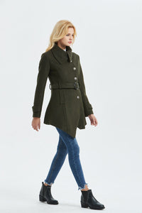 Army green coat, warm coat C1320