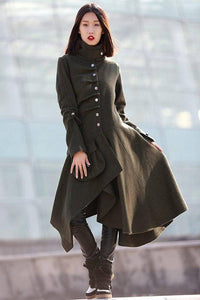Asymmetrical Swing Coat  C180