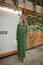 Load image into Gallery viewer, Long sleeve high waist maxi linen dress C1383