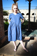 Load image into Gallery viewer, Tunic dress, mini linen dress, linen dress, oversized dress, womens dresses, simple linen dress, blue dress, summer dress C1489