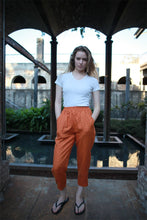 Load image into Gallery viewer, Orange linen pants, orange pants, summer pants, linen pants, tapered pants, casual pants, womens pants, cuatom pants C1472