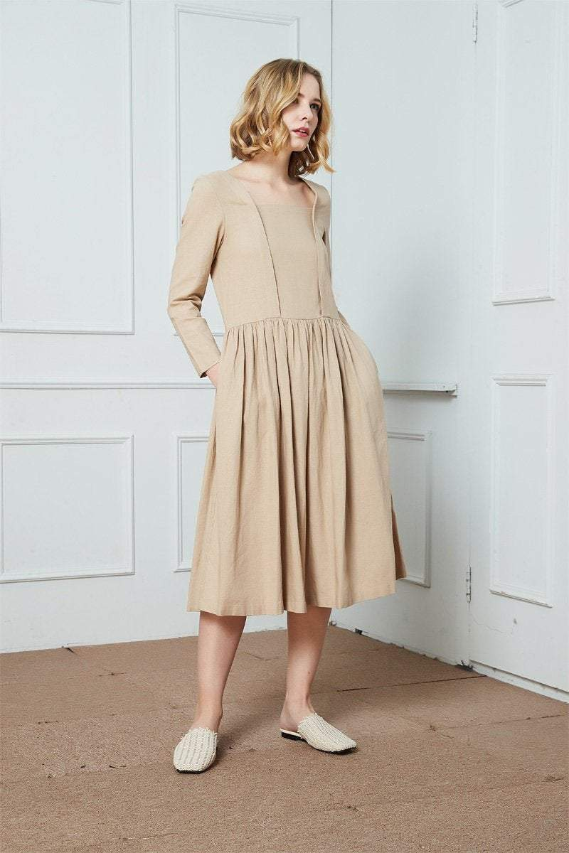 Casual Comfortable Loose-Fitting Women's Day Dress C269