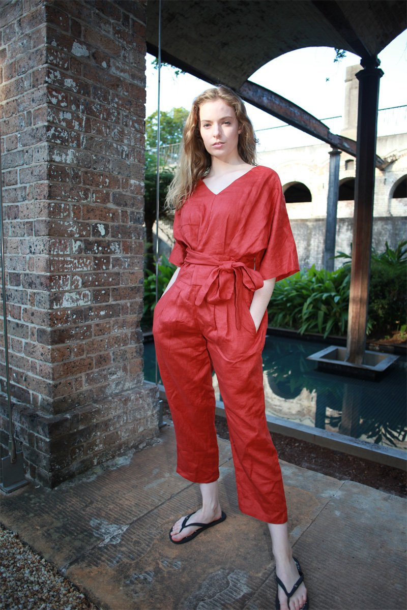 Washed long linen overall, Linen romper, Linen Jumpsuit Women, Oversized Jumpsuit, Linen jumpsuit, Loose linen Jumpsuit C1498