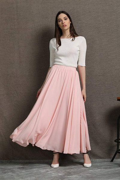 Chiffon Skirt, womens skirts, pink chiffon skirt, floaty maxi skirt, chiffon maxi skirt, long chiffon skirt, chiffon wedding skirt C595