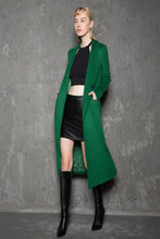 Load image into Gallery viewer, Green wool coat, Wool Coat, coat, jacket, Emerald green coat, maxi coat, Winter Coat, vintage coat, trench coat, winter coat green C715