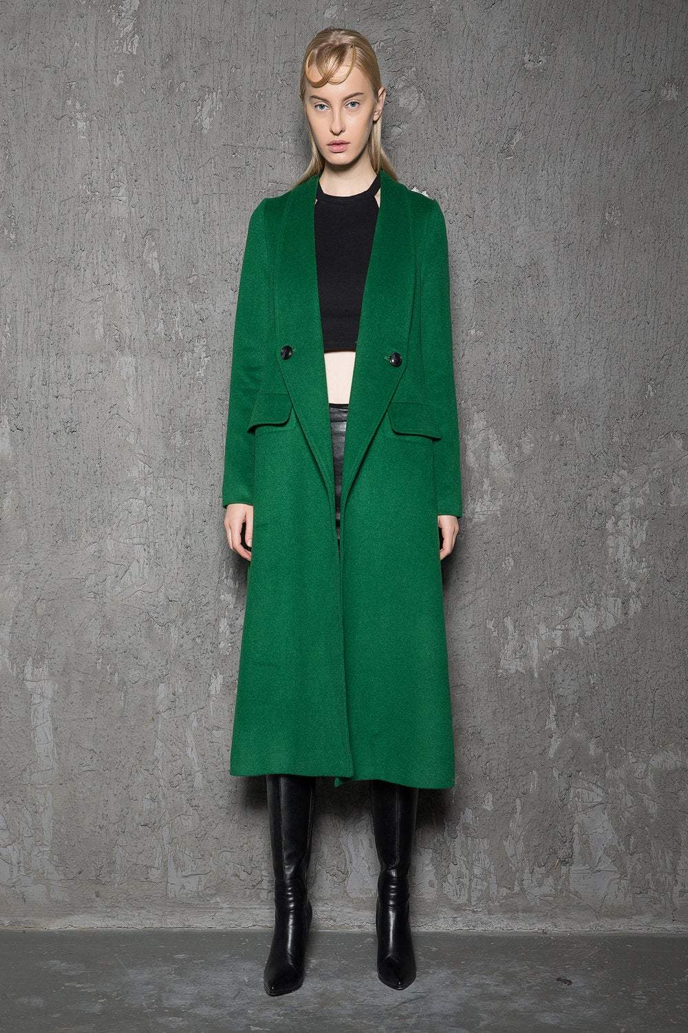 Green wool coat, Wool Coat, coat, jacket, Emerald green coat, maxi coat, Winter Coat, vintage coat, trench coat, winter coat green C715