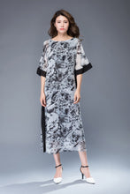 Load image into Gallery viewer, Casual print chiffon maxi dress C942