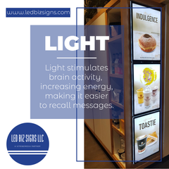 Light stimulates brain activity, increasing energy, making it easier to recall messages.