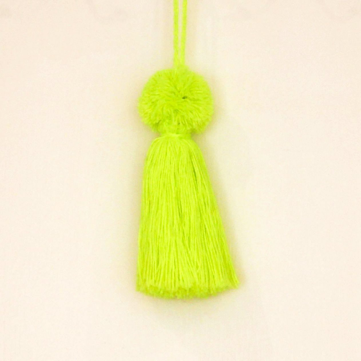 Colourful Wool Tassels Yellow