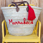 French Basket - French Shopping Basket Red