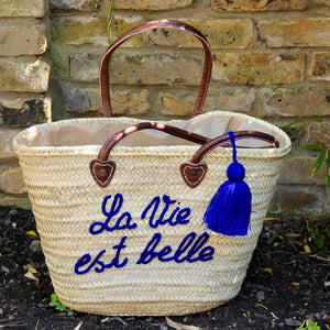 French Market Basket - Straw Basket