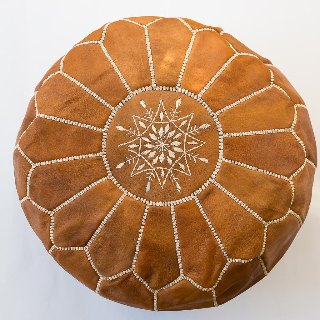 Moroccan Poufs Leather