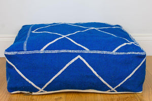 Pouf Cover - Pouf Blue