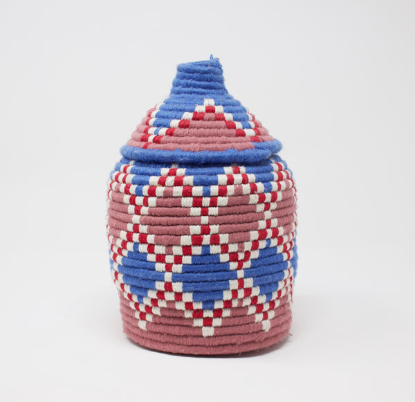 Moroccan Bread Basket Cornflower