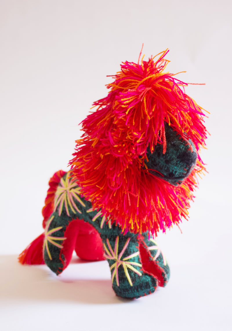 Hand-stitched Lion Toy