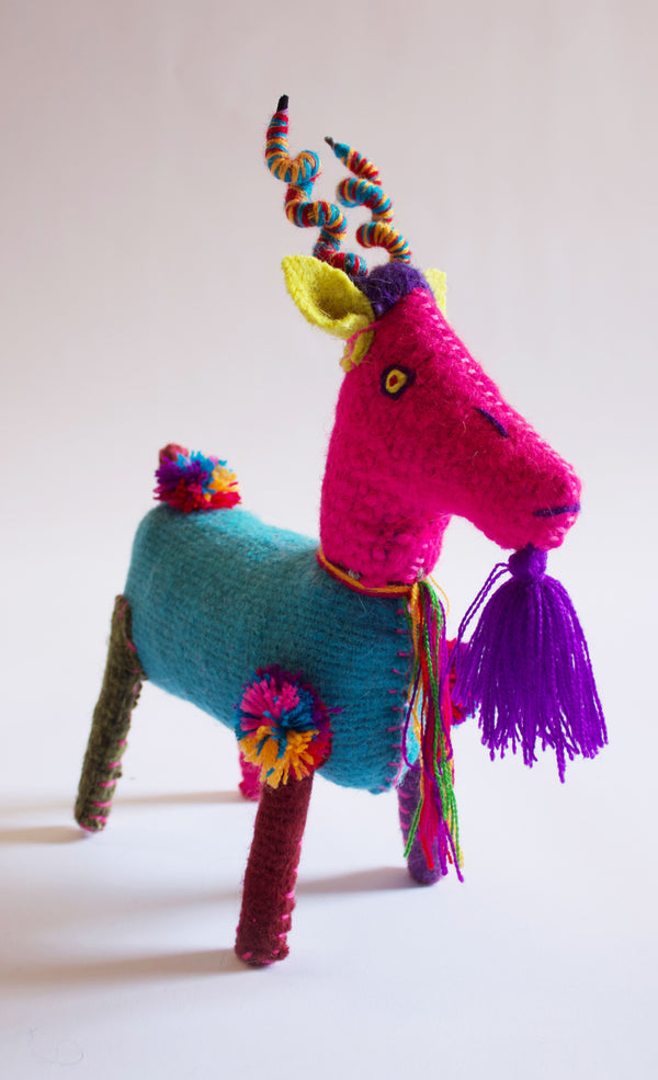 Hand-stitched Goat Toy