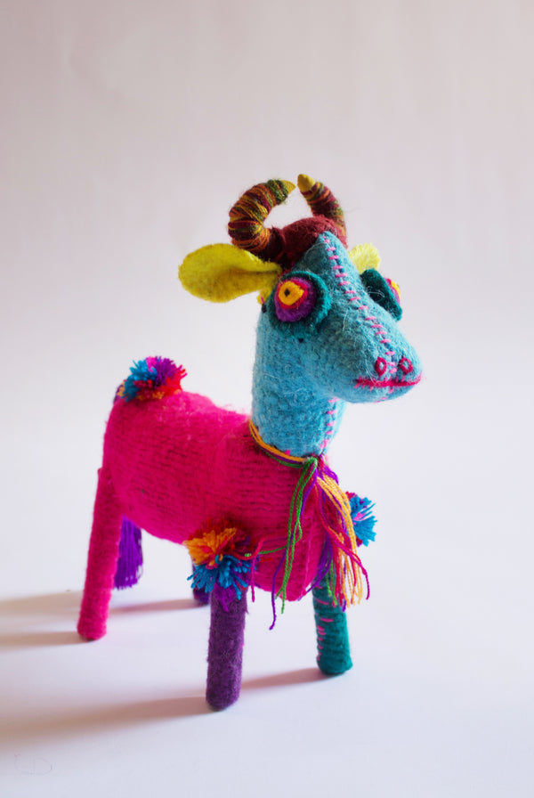 Hand-stitched Cow Toy