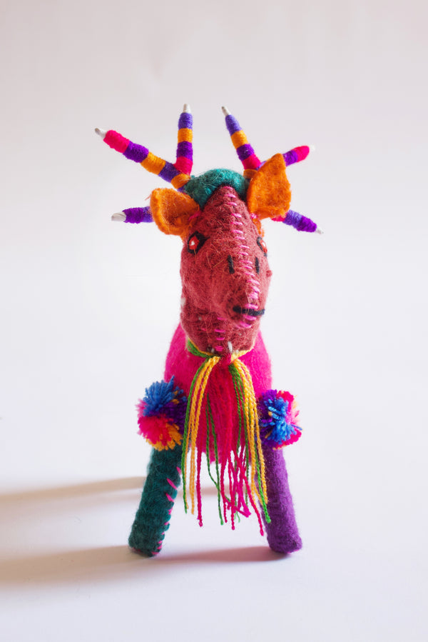 Hand-stitched Small Goat Toy