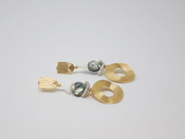 Nectar Nectar Gold Abalone Earrings