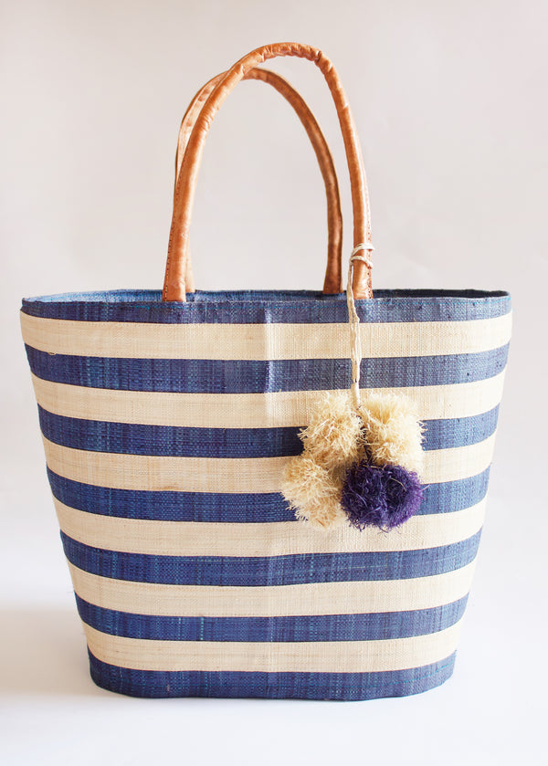 Be You Fashion Natural Handwoven Raffia Tote