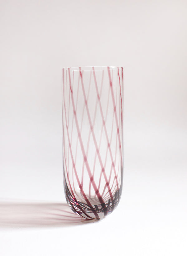 Roost Amethyst Swirl Highball Glass