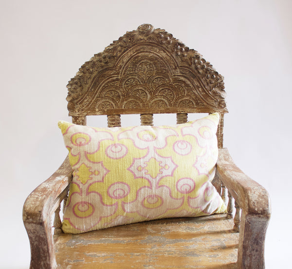 IKAT Pale Yellow Pillow