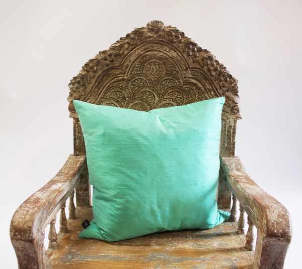 8Mood Dupion Seafoam Pillow