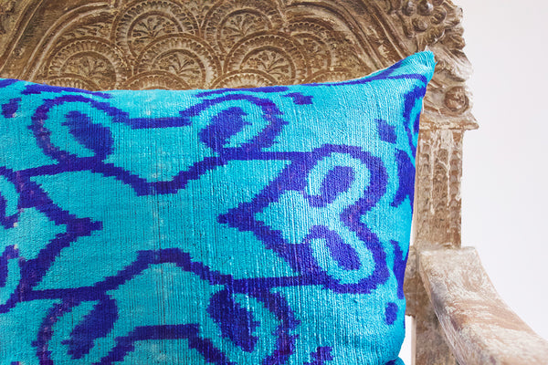IKAT Blue & Blue Pillow