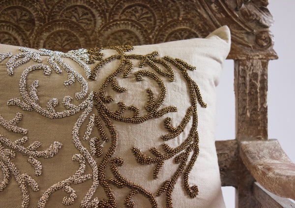 Rocio Beaded Pillow