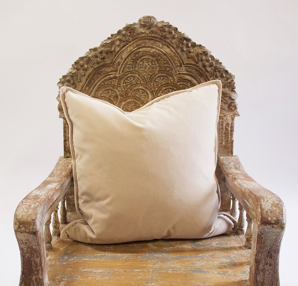 Couture Culture Beige Velvet Pillow