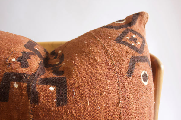 Mudcloth Pillow Earth