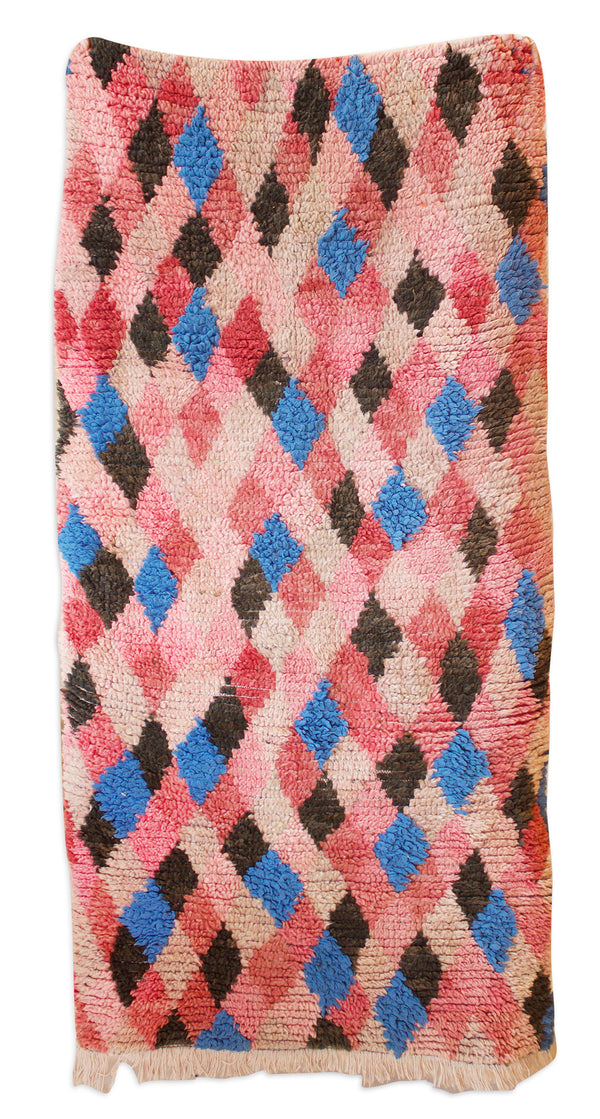 Moroccan Rug Magenta Diamonds