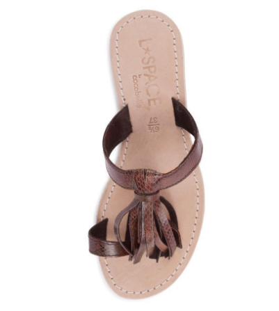 L Space Fringe Sandal Brown