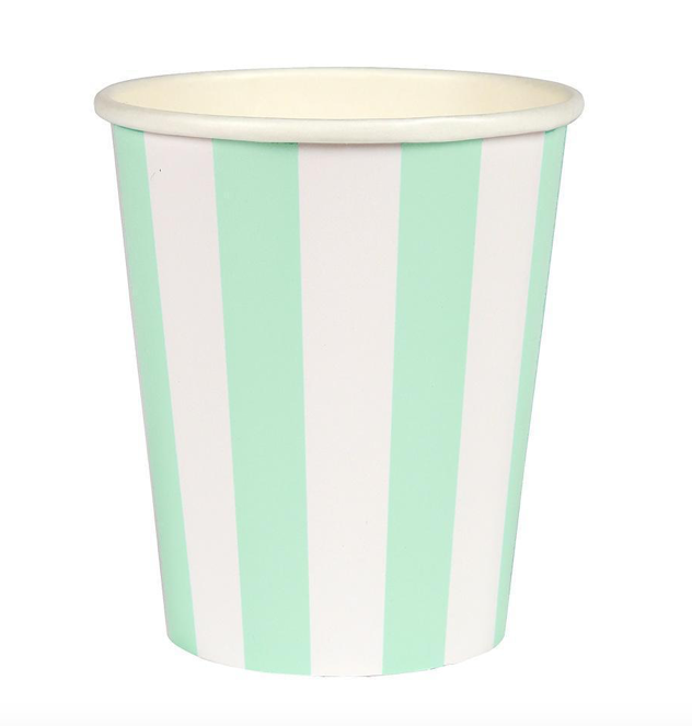 Meri Meri Striped Mint Cup